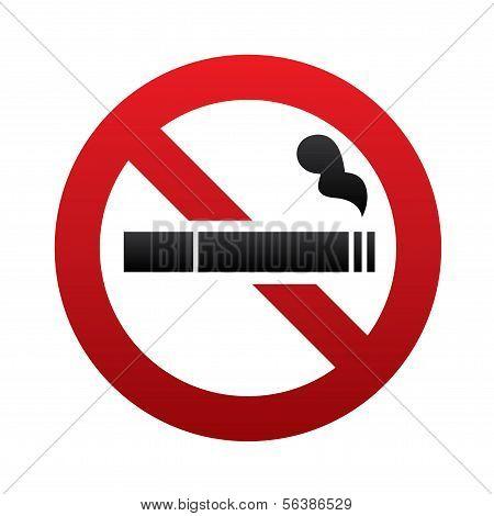 Kein Rauchverbot. Kein Rauch-Symbol. Aufhören Sie zu rauchen.