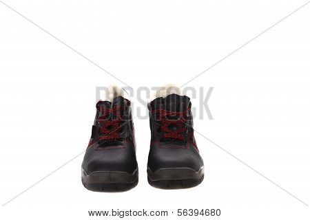 Winter man's boots.