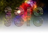 New Year 2010 theme on abstract background poster