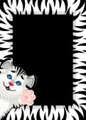 Beautiful children's framework with Lovely tiger toddler poster