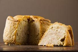 Melton Mowbray Pork Pie Cut Low Shot