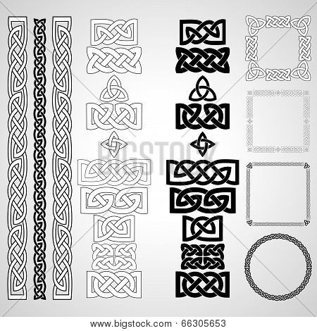 Celtic knots, patterns, frameworks