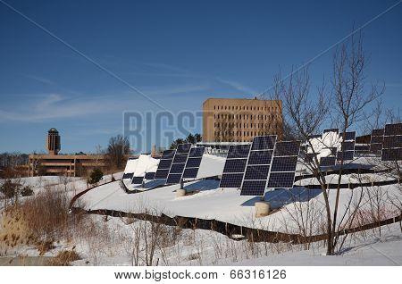 Solar Panels At The University Of Michigan