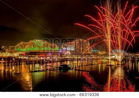 8th June 2014, Sydney, Australia - Darling Harbour illuminated for annual Vivid Sydney Festival