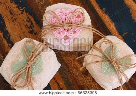 Brazilian Wedding Sweet Bem Casado With Crochet And Paper Heart