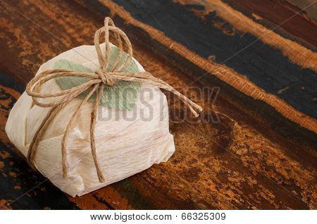 Brazilian Wedding Sweet Bem Casado With Green Paper Heart