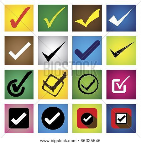 Tickmark, Checkmark, Right Mark, Correct Choice - Vector Icons Set