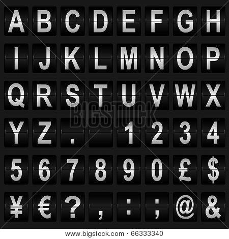 Mechanical Display Font
