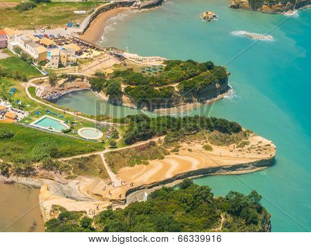 Aerial view on Sidari in Corfu Kerkyra Greece