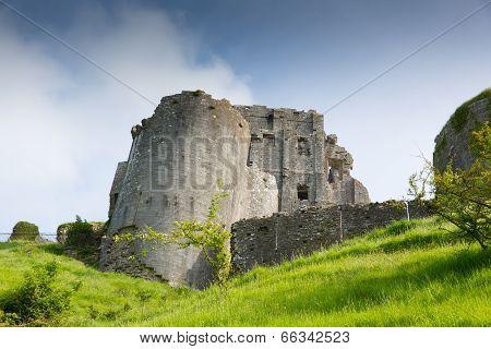 Corfe Castle Dorset England built by William the Conqueror in 11th century