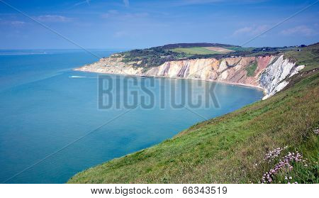 Alum Bay Isle of Wight by the Needles tourist attraction