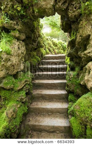 Stone Stairs At Nature