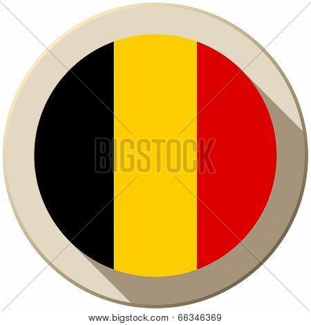 poster of Vector - Belgium Flag Button Icon Modern