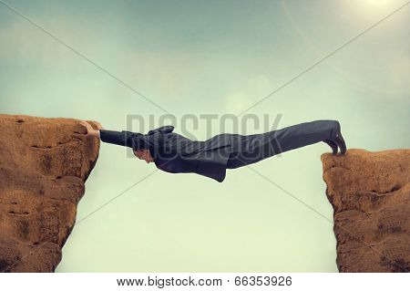 Businessman Over Stretched