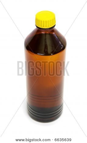 Bottle Of Organic Solvent