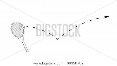 Tenis Racket And Ball