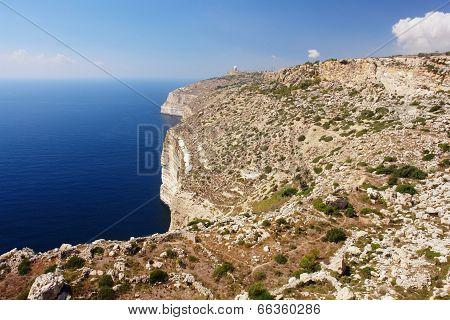 Cliffs in Malta