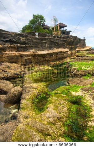 The Tanah Lot Temple the most important indu temple of Bali Indonesia. poster