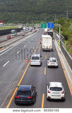 Swiss Highway, Construction Site