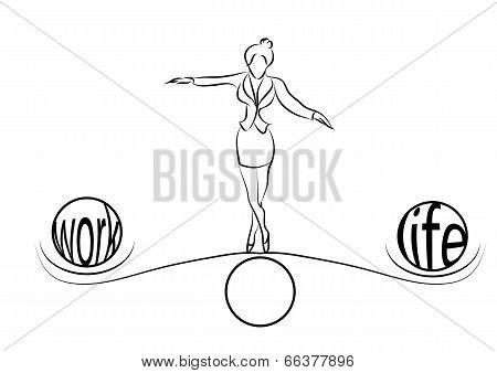 Woman Balance Of Life