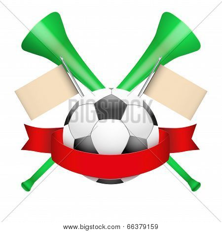 Sporting Poster with Soccer Ball.