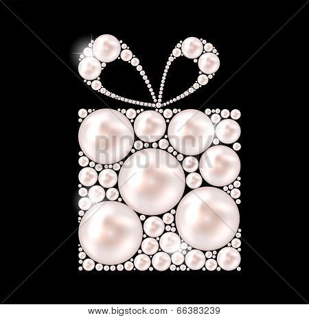 Beauty Pearl Gift Background Vector illustration. EPS10 poster