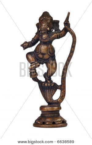 Brass sculpture of Ganesha