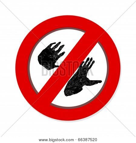 Interdiction Paw  Symbol Sign.  Gorilla Pawprint