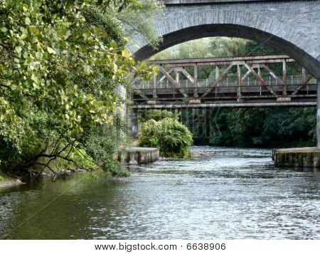 Bridge with river flowing underneath