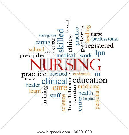 Nursing Word Cloud Concept