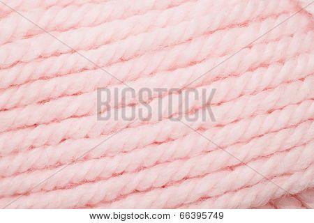 Pink Yarn Close Up