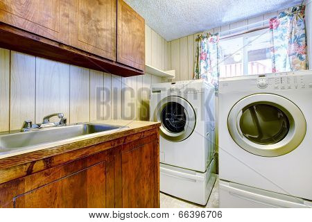 Small Laundry Room Interior