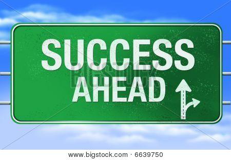 Sinal de estrada do sucesso