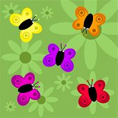 cartoon butterfly background poster