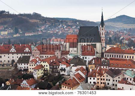 The Old Town Of Cesky Krumlov, Czech Republic