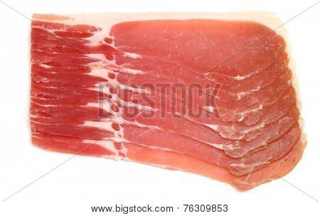 Organic dry cured back bacon rashers.