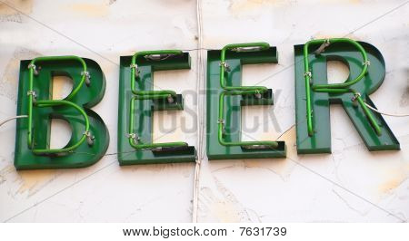 Sign Advertising Beer