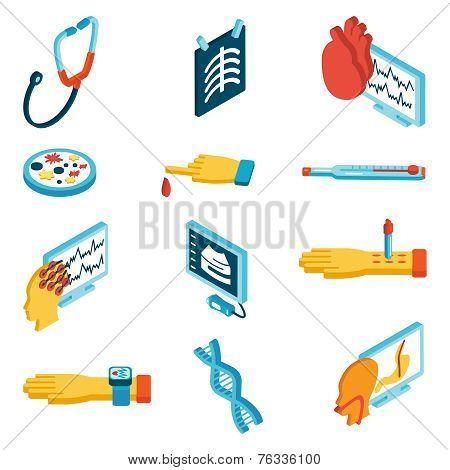 Medical isometric icons