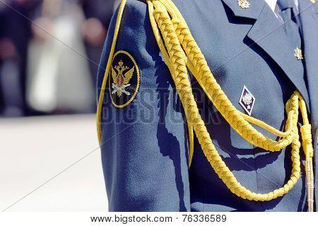 Aglets on military uniform