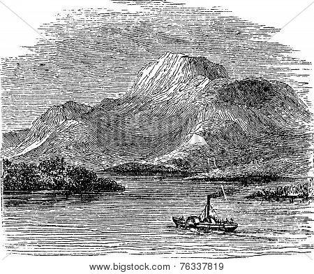Loch Lomond On Highland Boundary Fault Scotland Vintage Engraving
