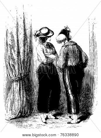 A Private Conversation Of Two Woman