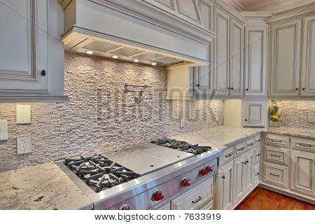 Luxury Kitchen Stove Detail