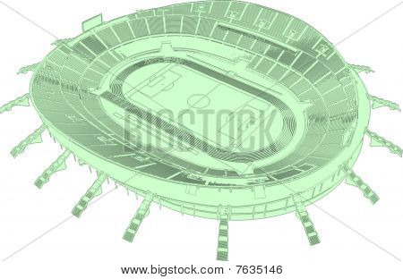 Football Soccer Stadium Vector 01