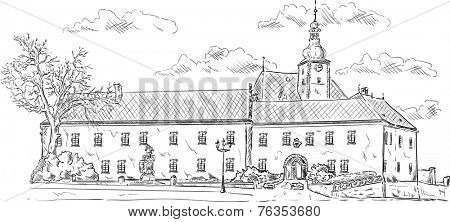 vector - The old palace, now is the ceremonial hall and museum, Fr���½dek-M���stek, Czech republic, Europe