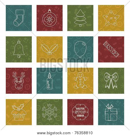 Stitched Christmas Icons