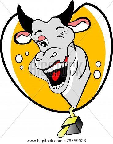 Funny Winking Cow, Illustration