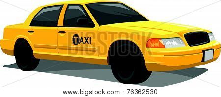 Vector Of Yellow Taxi.