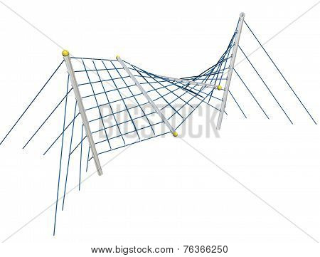 Play And Climbing And Crawling Net, 3D Illustration