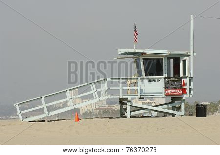Life guard station, Venice Beach, Los Angeles, California