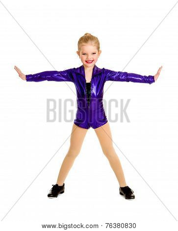 Adorable Junior Tap Dancer Student